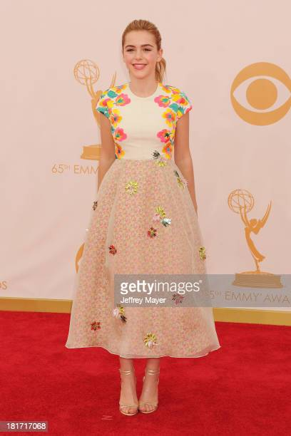 Actress Kiernan Shipka arrives at the 65th Annual Primetime Emmy Awards at Nokia Theatre L.A. Live on September 22, 2013 in Los Angeles, California.