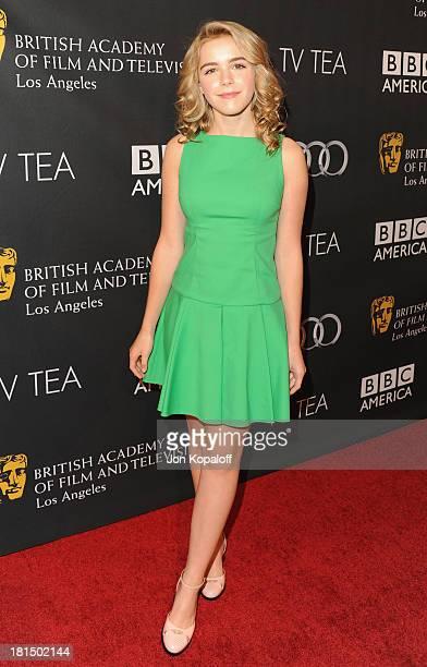 Actress Kiernan Shipka arrives at the BAFTA Los Angeles TV Tea 2013 on September 21 2013 in Beverly Hills California