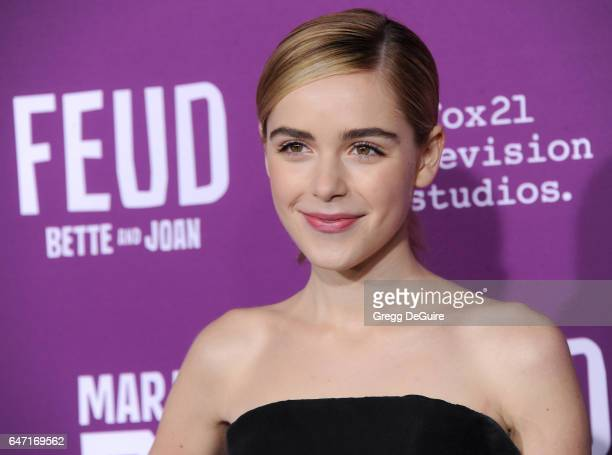 Actress Kiernan Shipka arrives at the premiere of FX Network's 'Feud Bette And Joan' at Grauman's Chinese Theatre on March 1 2017 in Hollywood...