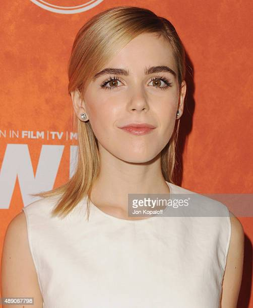 Actress Kiernan Shipka arrives at the Variety And Women In Film Annual PreEmmy Celebration at Gracias Madre on September 18 2015 in West Hollywood...