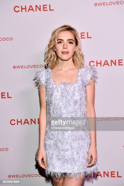Actress Kiernan Shipka attends a Chanel Party to Celebrate the Chanel Beauty House and @WELOVECOCO at Chanel Beauty House on February 28 2018 in Los...