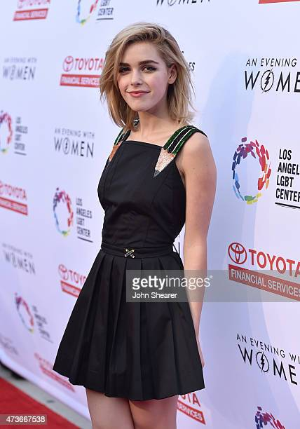 Actress Kiernan Shipka attends An Evening with Women benefiting the Los Angeles LGBT Center at the Hollywood Palladium on May 16 2015 in Los Angeles...
