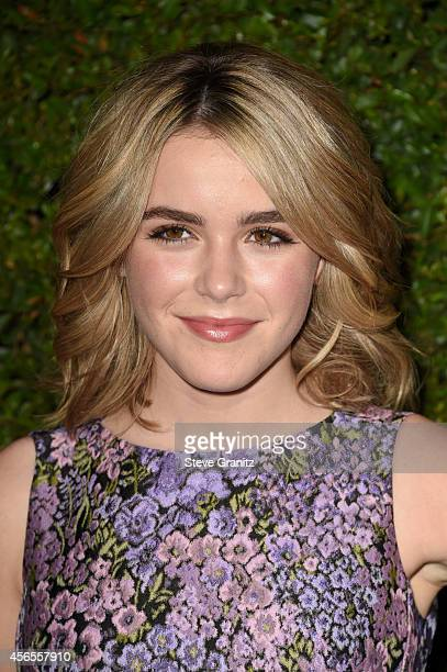 Actress Kiernan Shipka attends Claiborne Swanson Frank's Young Hollywood book launch hosted by Michael Kors at Private Residence on October 2 2014 in...
