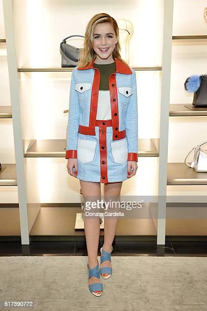Actress Kiernan Shipka attends Fendi and Vogue Celebrate Fendi Beverly Hills at Fendi on March 24 2016 in Beverly Hills California
