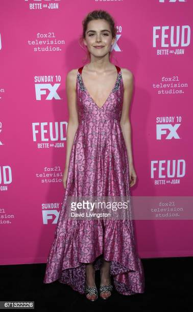 Actress Kiernan Shipka attends FX's 'Feud Bette and Joan' FYC event at The Wilshire Ebell Theatre on April 21 2017 in Los Angeles California