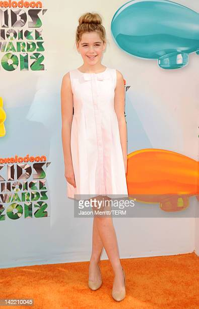 Actress Kiernan Shipka attends Nickelodeon's 25th Annual Kids' Choice Awards held at Galen Center on March 31 2012 in Los Angeles California