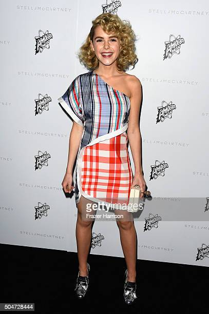 Actress Kiernan Shipka attends Stella McCartney Autumn 2016 Presentation at Amoeba Music on January 12 2016 in Los Angeles California