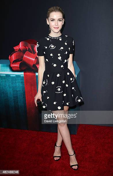 Actress Kiernan Shipka attends STX Entertainment's The Gift Los Angeles premiere at Regal Cinemas LA Live on July 30 2015 in Los Angeles California