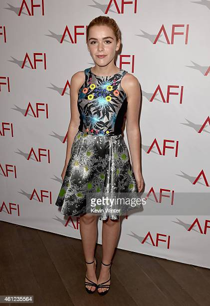 Actress Kiernan Shipka attends the 15th Annual AFI Awards at Four Seasons Hotel Los Angeles at Beverly Hills on January 9, 2015 in Beverly Hills,...