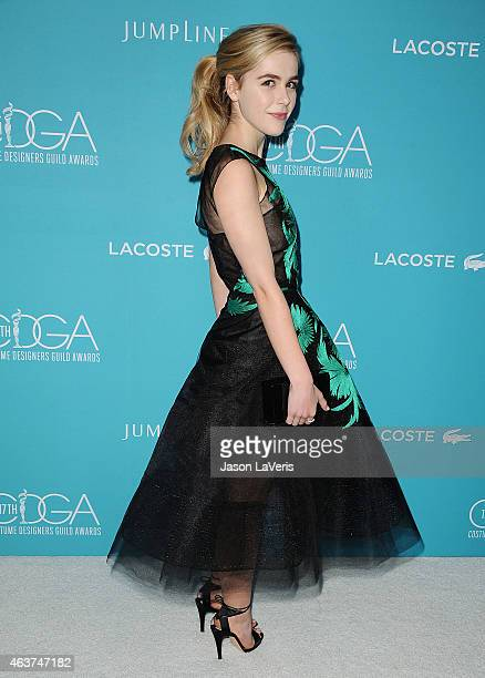 Actress Kiernan Shipka attends the 17th Costume Designers Guild Awards at The Beverly Hilton Hotel on February 17 2015 in Beverly Hills California