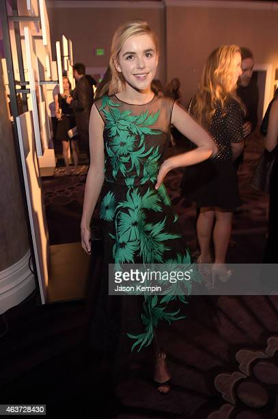 Actress Kiernan Shipka attends the 17th Costume Designers Guild Awards with presenting sponsor Lacoste at The Beverly Hilton Hotel on February 17...
