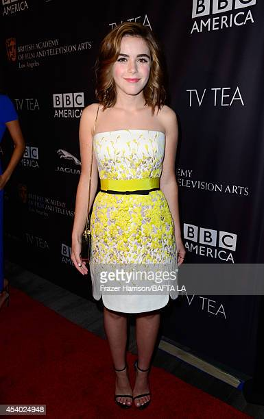 Actress Kiernan Shipka attends the 2014 BAFTA Los Angeles TV Tea presented by BBC America And Jaguar at SLS Hotel on August 23 2014 in Beverly Hills...