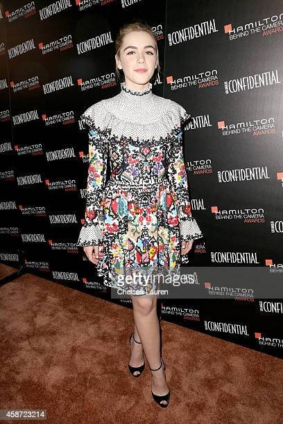 Actress Kiernan Shipka attends The 2014 Hamilton Behind the Camera Awards presented by Hamilton Watch and LA Confidential at The Wilshire Ebell...