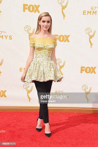 Actress Kiernan Shipka attends the 67th Annual Primetime Emmy Awards at Microsoft Theater on September 20 2015 in Los Angeles California