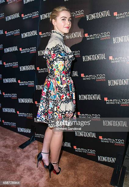 Actress Kiernan Shipka attends the 8th Annual Hamilton Behind The Camera Awards at The Wilshire Ebell Theatre on November 9 2014 in Los Angeles...