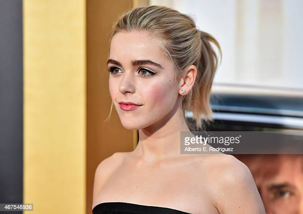 Actress Kiernan Shipka attends the AMC celebration of the final 7 episodes of Mad Men with the Black Red Ball at the Dorothy Chandler Pavilion on...