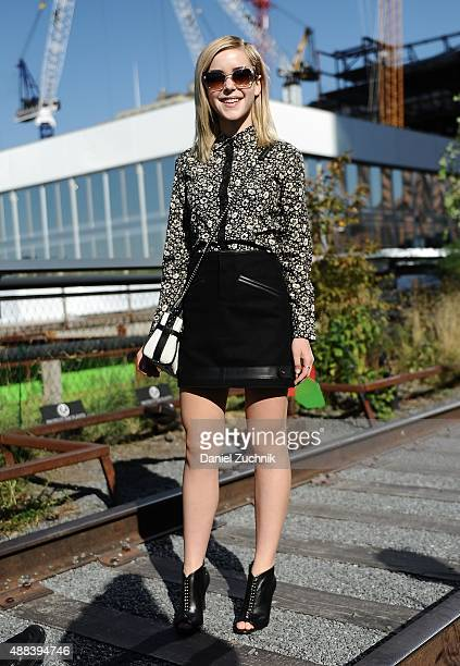 Actress Kiernan Shipka attends the Coach show during New York Fashion Week 2016 on September 15 2015 in New York City