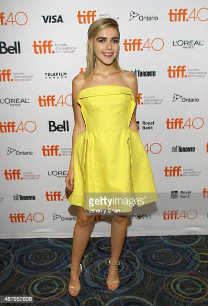 Actress Kiernan Shipka attends the 'February' photo call during the 2015 Toronto International Film Festival at Scotiabank on September 12 2015 in...