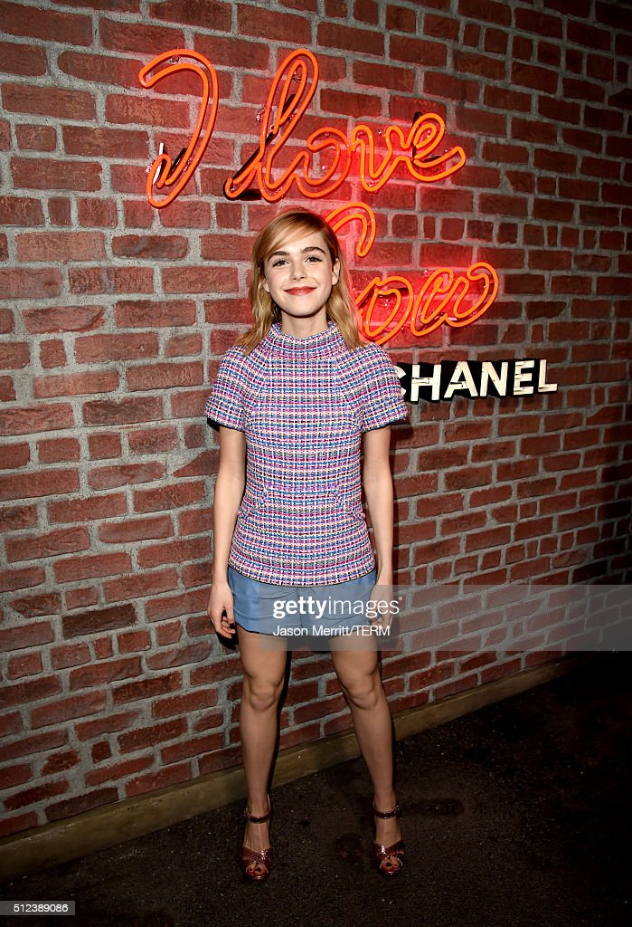 Actress Kiernan Shipka attends the I Love Coco Backstage Beauty Lounge at Chateau Marmont's Bar Marmont on February 25, 2016 in Hollywood, California.