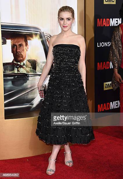 Actress Kiernan Shipka attends the 'Mad Men' Black & Red Ball at Dorothy Chandler Pavilion on March 25, 2015 in Los Angeles, California.