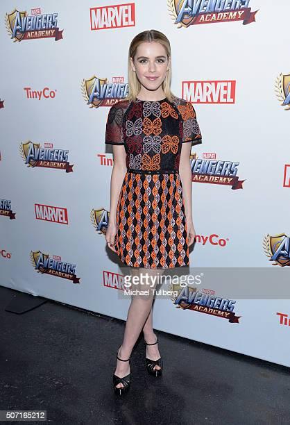 Actress Kiernan Shipka attends the MARVEL Avengers Academy's Party at Teragram Ballroom on January 27 2016 in Los Angeles California