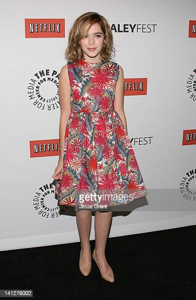 Actress Kiernan Shipka attends The Paley Center for Media's PaleyFest 2012 Honoring 'Mad Men' at Saban Theatre on March 13 2012 in Beverly Hills...