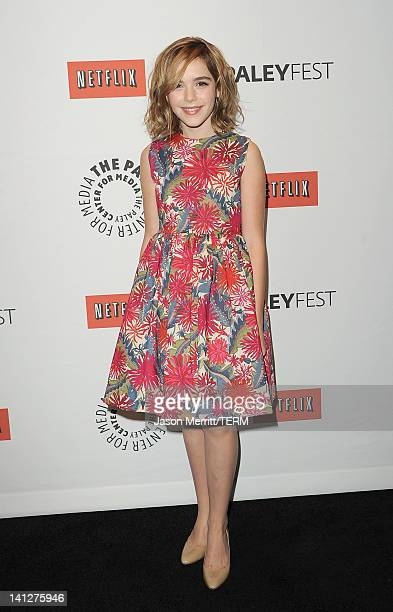 """Actress Kiernan Shipka attends the PaleyFest 2012 honoring of """"Mad Men"""" held at the Saban Theatre on March 13, 2012 in Beverly Hills, California."""