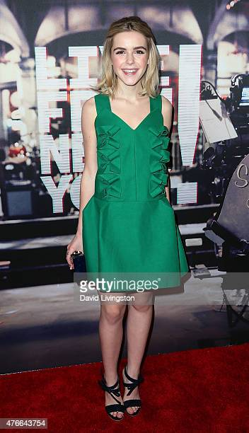 Actress Kiernan Shipka attends the premiere of Abramorama's Live from New York at the Landmark Theatre on June 10 2015 in Los Angeles California