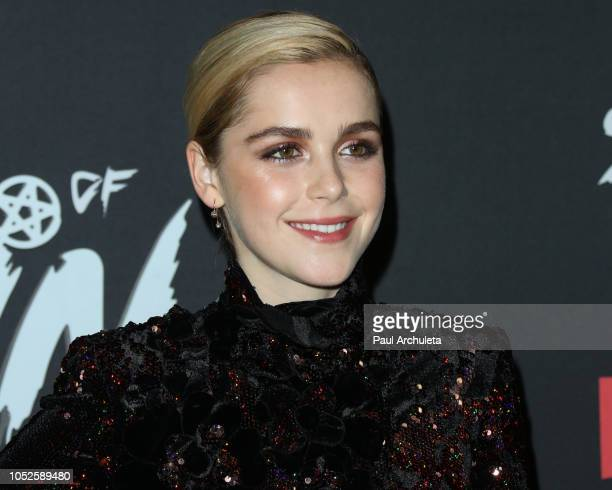 Actress Kiernan Shipka attends the premiere of Netflix's Chilling Adventures Of Sabrina at the Hollywood Athletic Club on October 19 2018 in...