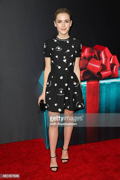 Actress Kiernan Shipka attends the premiere of STX Entertainment's 'The Gift' at Regal Cinemas LA Live on July 30 2015 in Los Angeles California
