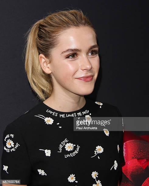 Actress Kiernan Shipka attends the premiere of The Gift at Regal Cinemas LA Live on July 30 2015 in Los Angeles California