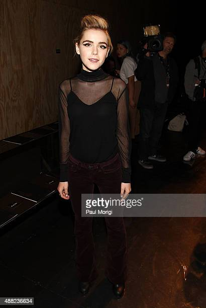 Actress Kiernan Shipka attends the rag bone Spring 2016 fashion show during New York Fashion Week at St Ann's Warehouse on September 14 2015 in New...