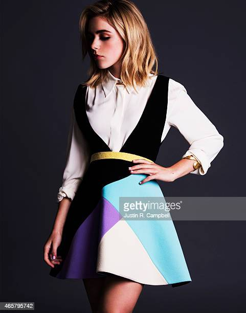 Actress Kiernan Shipka is photographed for Just Jared on January 15 2015 in Los Angeles California PUBLISHED IMAGE