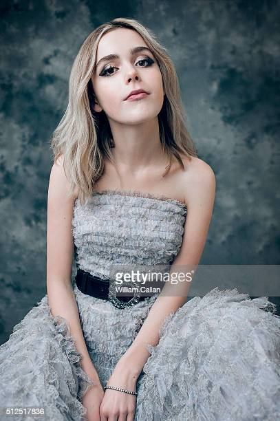 Actress Kiernan Shipka poses for a portrait at the 18th Costume Designers Guild Awards at The Beverly Hilton Hotel on February 23 2016 in Beverly...