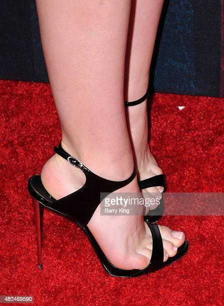 Actress Kiernan Shipka shoe detail attends STX Entertainment's 'The Gift' Los Angeles premiere at Regal Cinema LA Live on July 30 2015 in Los Angeles...