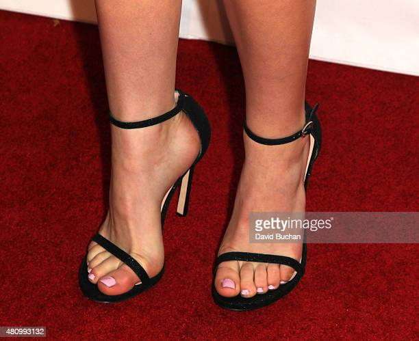 Actress Kiernan Shipka shoe detail attends Women of Influence issue celebration presented by Los Angeles Confidential magazine at Four Seasons Hotel...