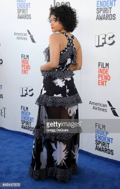 Actress Kiersey Clemons arrives at the 2017 Film Independent Spirit Awards on February 25, 2017 in Santa Monica, California.