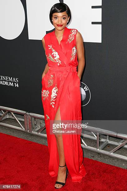 Actress Kiersey Clemons arrives at the Los Angeles Film Festival premiere of 'Dope' at Regal Cinemas LA Live on June 8 2015 in Los Angeles California