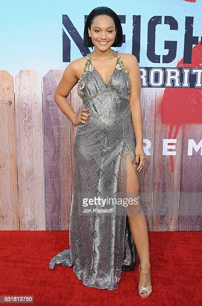 """Actress Kiersey Clemons arrives at the Los Angeles Premiere """"Neighbors 2: Sorority Rising"""" at Regency Village Theatre on May 16, 2016 in Los Angeles,..."""