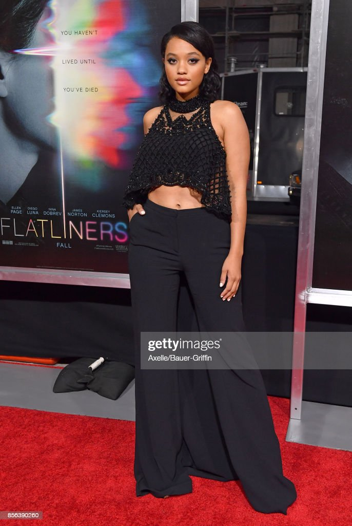 Actress Kiersey Clemons arrives at the premiere of 'Flatliners' at The Theatre at Ace Hotel on September 27, 2017 in Los Angeles, California.
