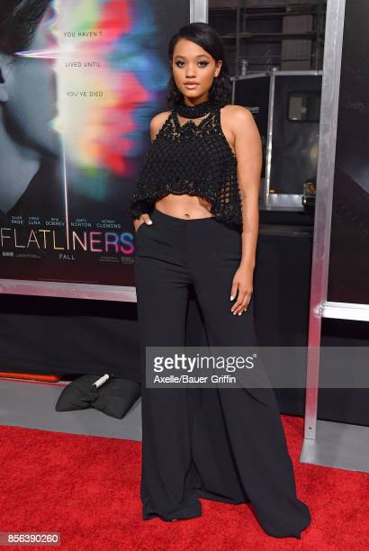 Actress Kiersey Clemons arrives at the premiere of 'Flatliners' at The Theatre at Ace Hotel on September 27 2017 in Los Angeles California