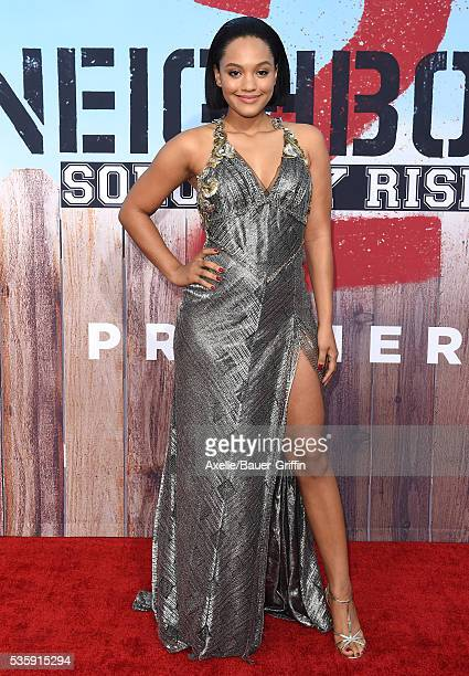 Actress Kiersey Clemons arrives at the premiere of Universal Pictures' 'Neighbors 2 Sorority Rising' on May 16 2016 in Westwood California