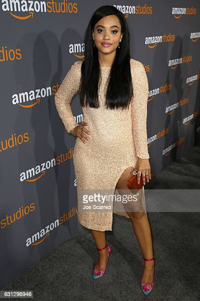 Actress Kiersey Clemons attends Amazon Studios Golden Globes Celebration at The Beverly Hilton Hotel on January 8 2017 in Beverly Hills California