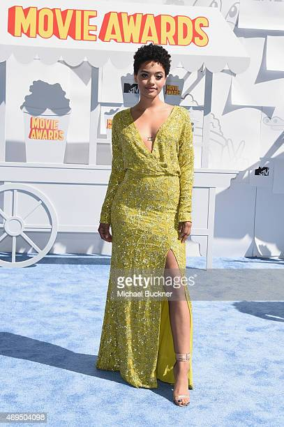 Actress Kiersey Clemons attends The 2015 MTV Movie Awards at Nokia Theatre LA Live on April 12 2015 in Los Angeles California