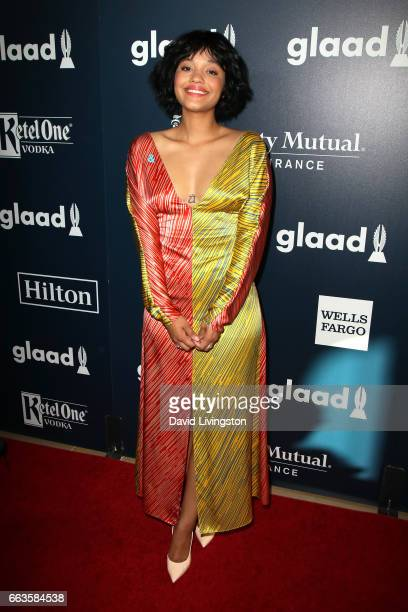 Actress Kiersey Clemons attends the 28th Annual GLAAD Media Awards at The Beverly Hilton Hotel on April 1 2017 in Beverly Hills California