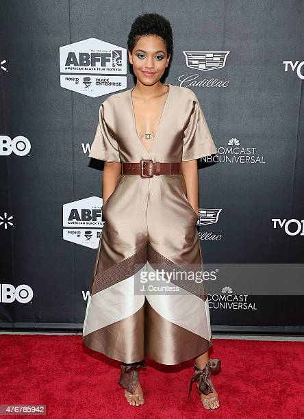 Actress Kiersey Clemons attends the 'Dope' Opening Night Premiere at the 2015 American Black Film Festival at SVA Theater on June 11 2015 in New York...