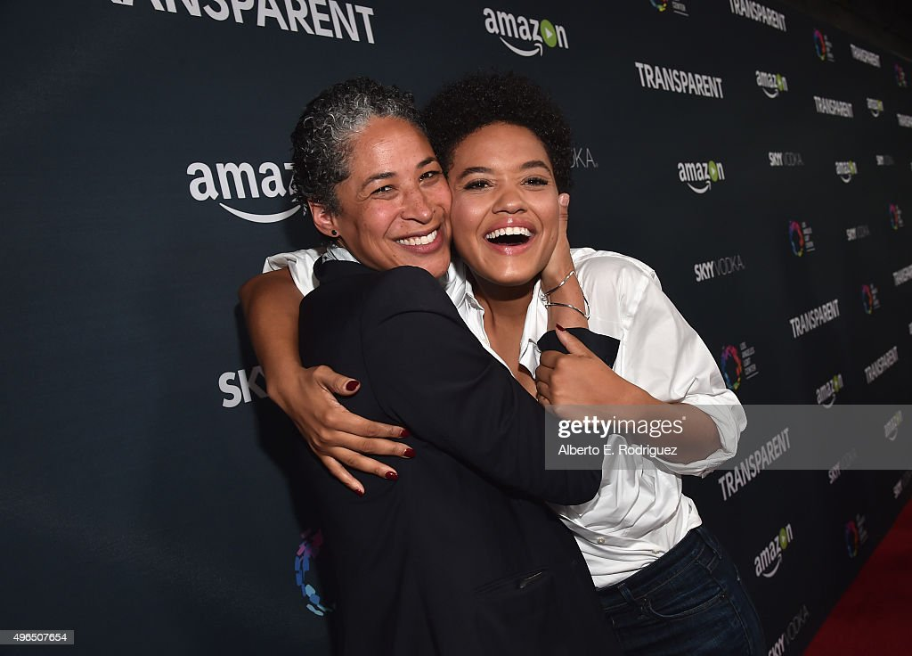 Actress Kiersey Clemons (R) attends the Premiere Of Amazon's 'Transparent' Season 2 at SilverScreen Theater at the Pacific Design Center on November 9, 2015 in West Hollywood, California.