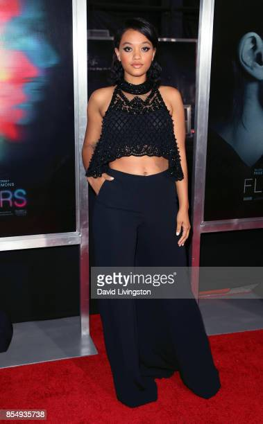 Actress Kiersey Clemons attends the premiere of Columbia Pictures' 'Flatliners' at The Theatre at Ace Hotel on September 27 2017 in Los Angeles...