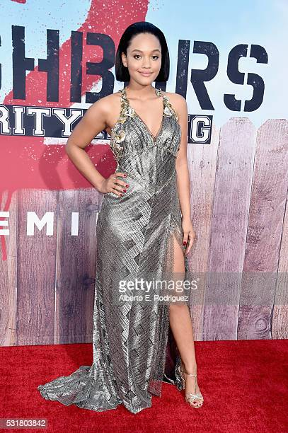 Actress Kiersey Clemons attends the premiere of Universal Pictures' 'Neighbors 2 Sorority Rising' at the Regency Village Theatre on May 16 2016 in...