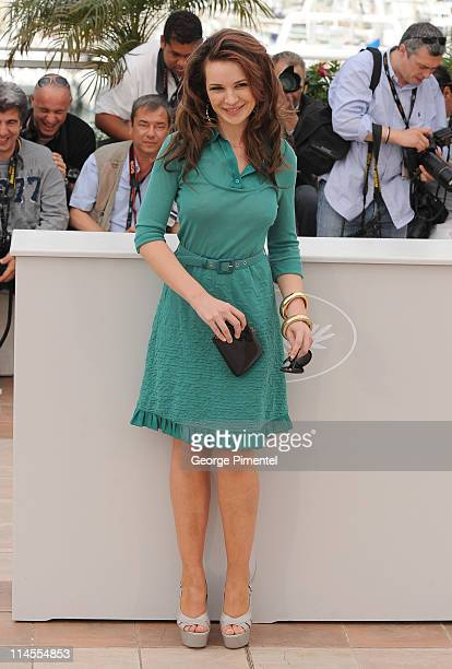 Actress Kierston Wareing attends the 'Fish Tank' Photocall held at the Palais Des Festival during the 62nd International Cannes Film Festival on May...